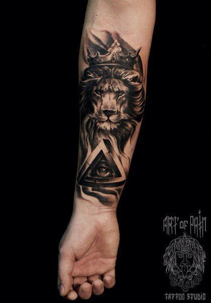 Tatto leão + olho da providência
