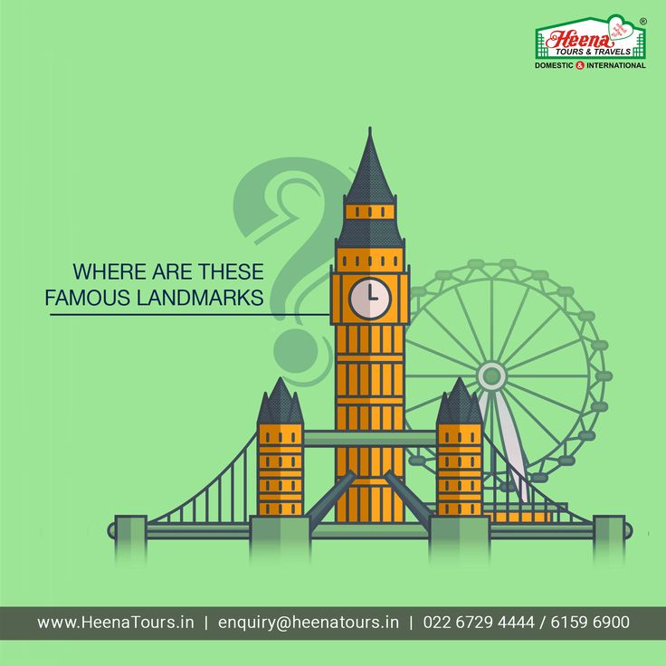 Where are these famous landmarks?
