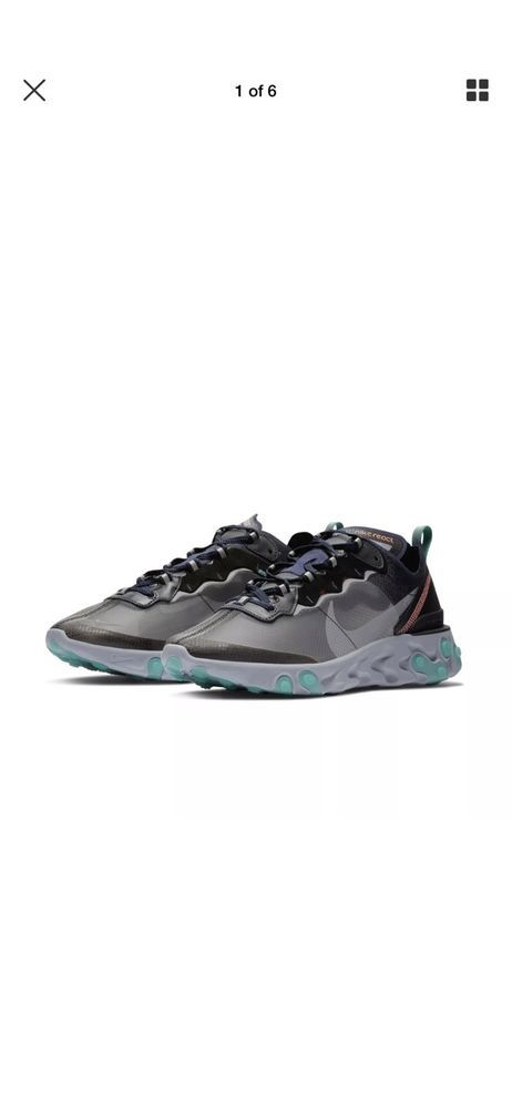 Pink Black Green Qs React Element Miami Neptune Nike 87 Sneakers mwOPyv80Nn
