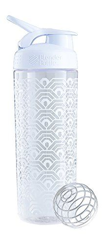 BlenderBottle SportMixer Signature Sleek Shaker Bottle, Clamshell White, 28-Ounce *** See this great product.