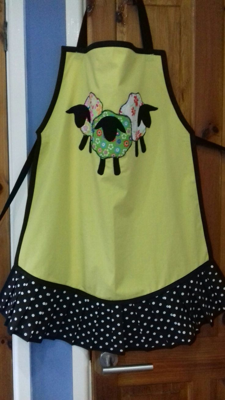 Cute Sheep Apron with frills