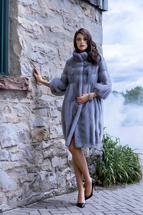 Sapphire Mink Fur Coat.