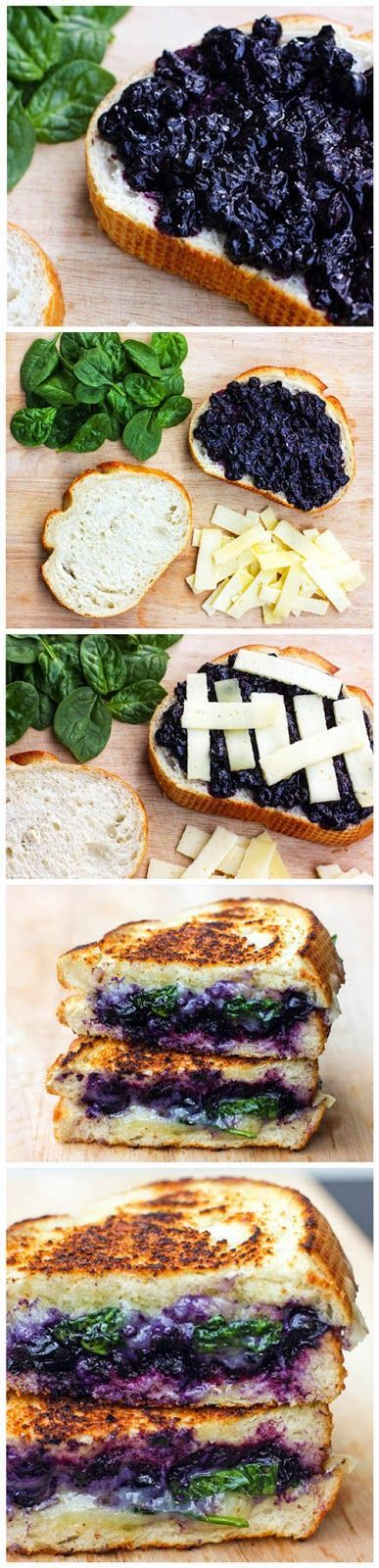 Balsamic Blueberry Grilled Cheese Sandwich- sounds interesting...will have to try to try it someday
