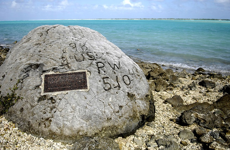 """On Wake Island in 1943, the Japanese execute 97 captured Americans by machine gun. Only 1 man escapes the slaughter and carves """"98 US PW 5-10-43"""" on large coral rock as an attempt to document the atrocity. He is later captured and beheaded. It is still there today."""