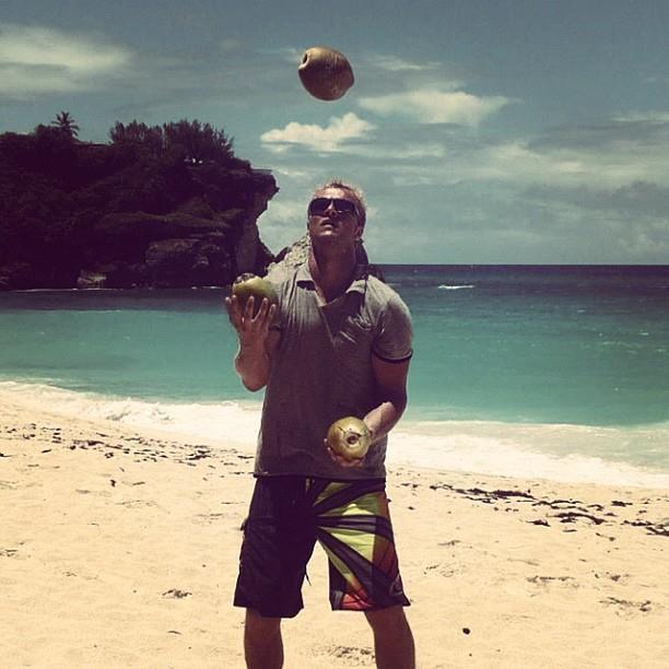 Coconut Juggle at Foul Beach, Barbados