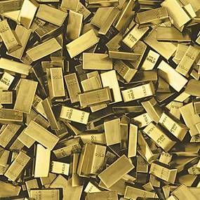 Vinylová tapeta, tehly zlaté, Faux Semblant L16612, UGEPA, rozmer 10,05 m x 0,53 m