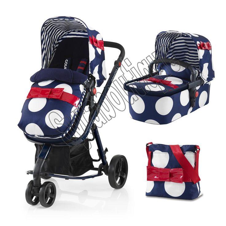 Poussette Cosatto Giggles  3en1 inclus : 1 châssis , 1 hamac, 1 nacelle, chancelière, siège auto, sac à langer et habillage pluie cosy inclus