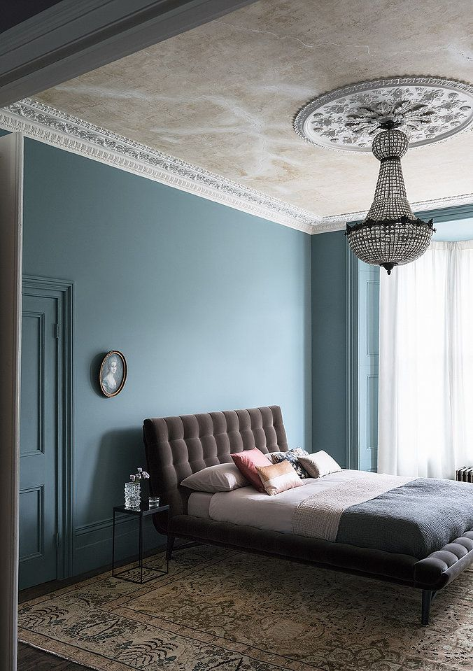 Painting the walls and doors in the same colour is a game changer. Get your inspiration from the UK's No1 colour inspiration blog Seasons in Colour Blue Gum Paint and Paper Library