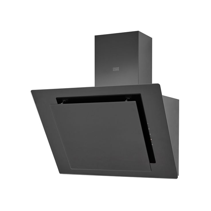 Cooke & Lewis CLAGB60 Black Glass Angled Cooker Hood, (W) 600mm | Departments | DIY at B&Q