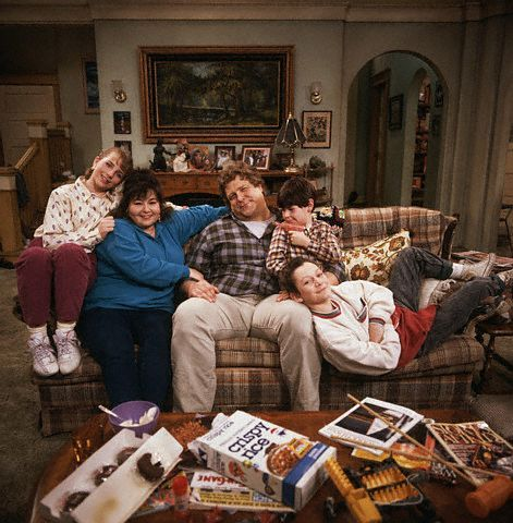 Roseanne   Family In The Living Room On Their Ugly Vintage Couch Part 34