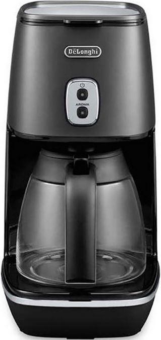 DeLonghi Distinta ICMI211.BK  DeLonghi Distinta Filter Koffiezetapparaat Een luxe DeLonghi Filter Koffiezetapparaat op de traditionele manier! Met een permanente filter bij de Distinta hoef jij niet zelf nog eens filters te halen. De koffie zoals je gewend bent oud en vertrouwd maar dan makkelijker en lekkerder! Bovendien wordt jou koffie door deze DeLonghi Distinta ook nog eens 40 minuten lang warm gehouden nadat het gezet is. Dit mag ook wel want er kunnen maarliefst 10 kopjes koffie…