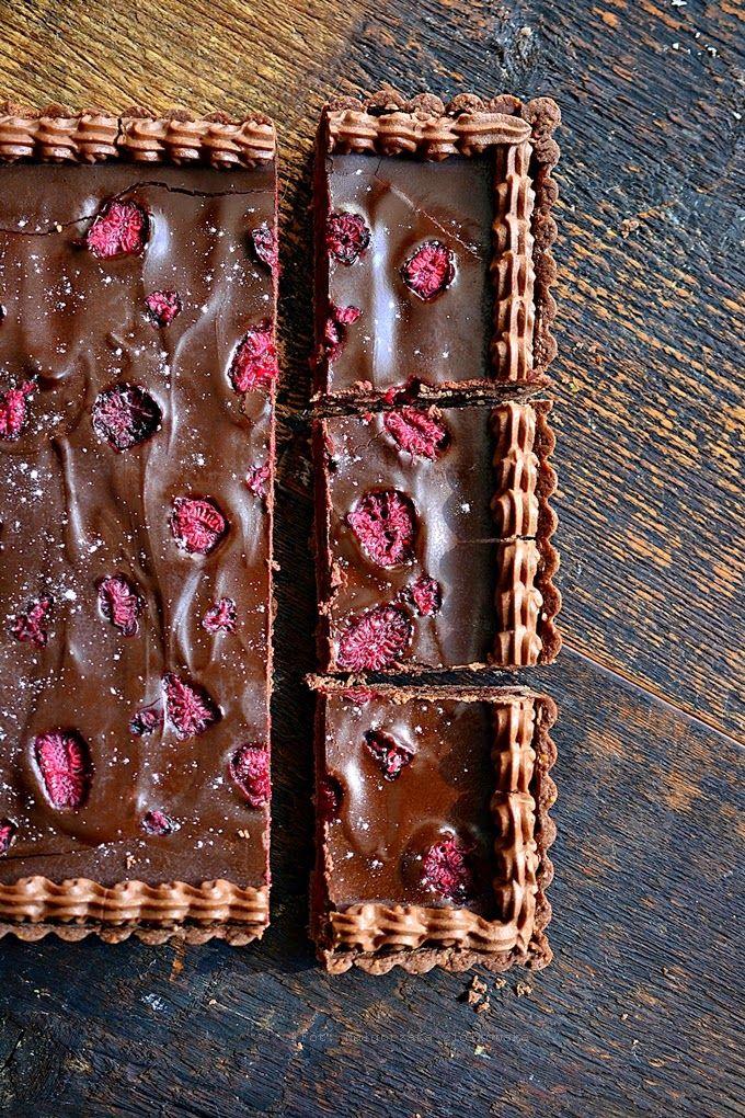 Smaki Alzacji : Mazurek malinowo czekoladowy