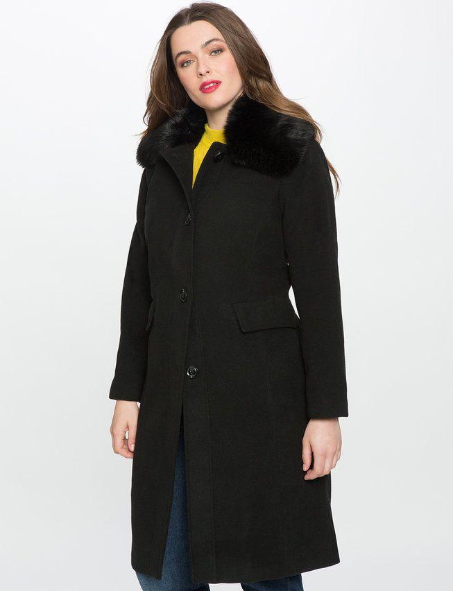 1000  images about Plus Size Coats on Pinterest | Plaid coat Faux