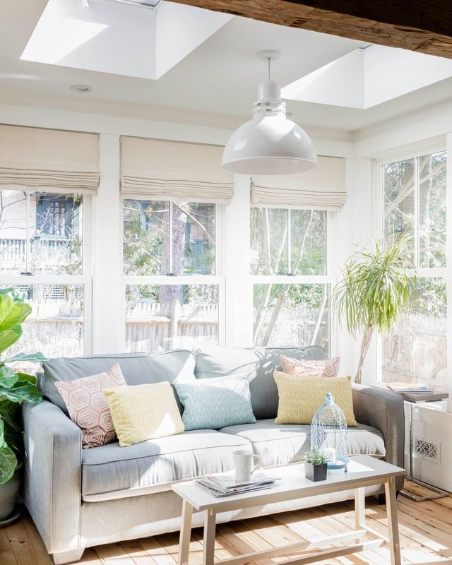 A Bright And Cheery Sunroom Tucked Off Kitchen. For Sale: An Old House In Part 82