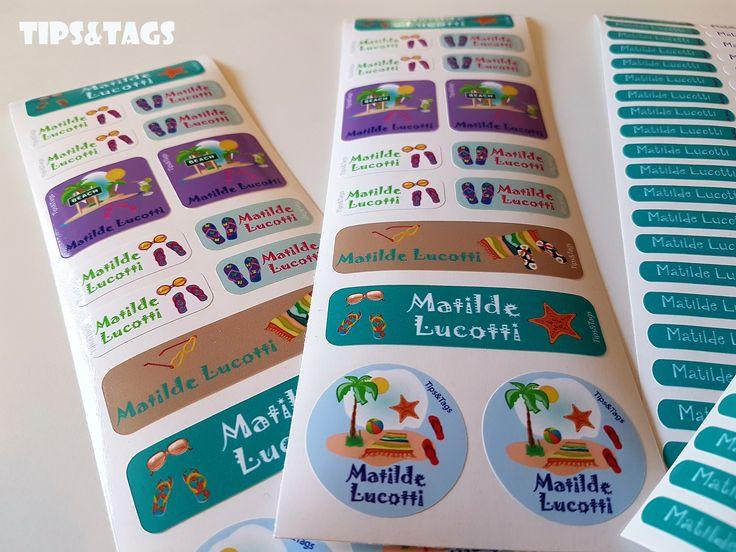 Etichette adesivi personalizzate per bambini