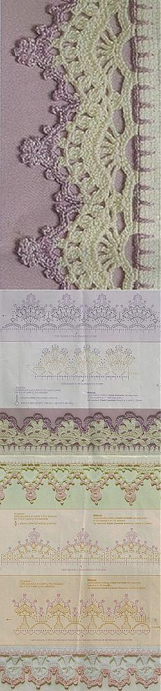 Bicos de Crochê – 47 com Gráficos e Passo a Passo