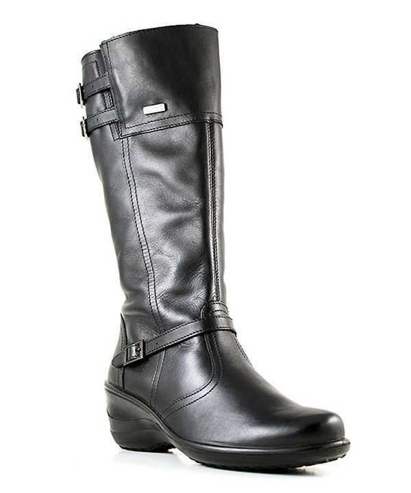 Look at this Black Evalista Leather Boot on #zulily today!