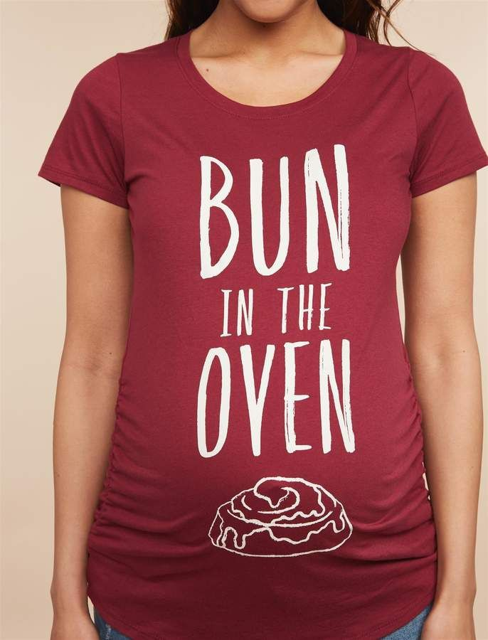 5943e8c59cfbb Motherhood Maternity Bun In The Oven Maternity Graphic Tee in 2019 ...
