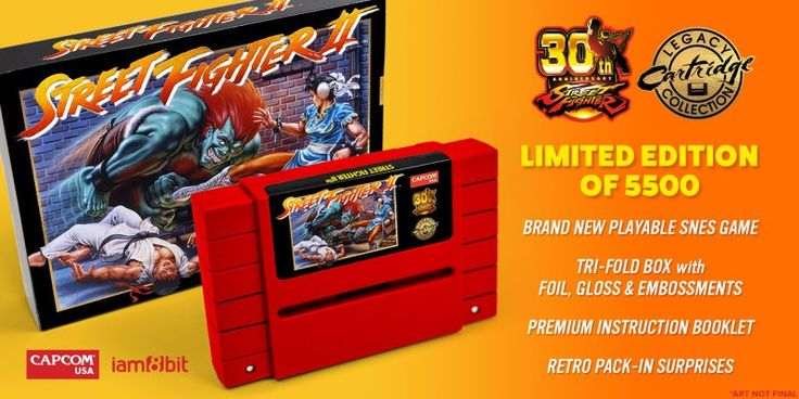 iam8bit Releases Limited Edition 30th Anniversary Street Fighter 2 SNES Cartridge UPDATED