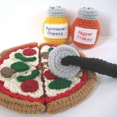 ピザあみぐるみ かぎ針編み物