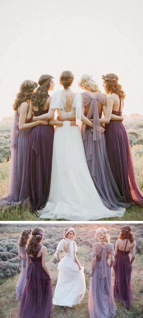 Best 25 plum bridesmaid dresses ideas on pinterest for Romantic ethereal wedding dresses