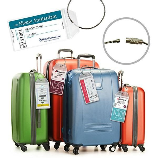 These are large cruise etag holders used for all cruise lines. There are Royal Caribbean & Celebrity tags that are more narrow. Click Here for Royal Caribbean & Celebrity Cruise Tags  These can be usedfor Carnival, P&O Cruise, MSC Cruise, Viking, Princess, Norwegian, Costa Cruise, Azamara Cruise, Holland America, Crystal Cruise and All Major Cruise Lines  **Please choose the narrow tags if you ONLY cruise on Celebrity & Royal Caribbean** With these tags, you...