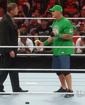 Lot of this goin around    #wrestling  #wwe  #raw  #john #cena #john #laurinaitis  #gif