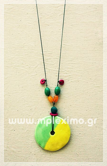 ceramic long necklace