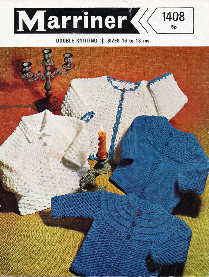 """Vintage baby crochet jackets Crochet pattern PDF baby knitted matinee coats crochet coats 16-18"""" DK light worsted 8ply PDF instant Download by Minihobo on Etsy"""