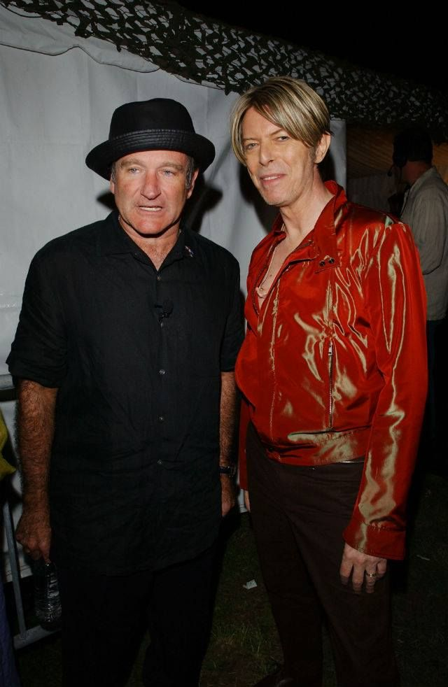 #RobinWilliams #DavidBowie may the dancing singing and laughter find you in heaven and the sorrows fall away