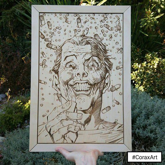 Wood Wall Art Joker BatmanWood ArtComics