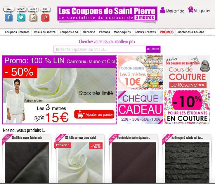 les coupons saint pierre Les coupons saint pierre un site pour acheter du tissu en ligne