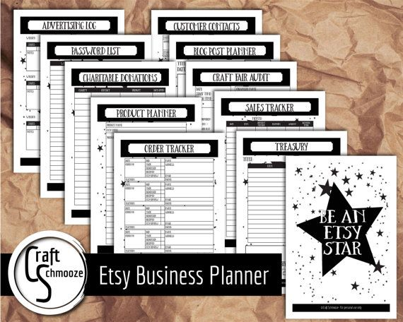Check out Business printable planner, Modern design,  Etsy business planner on craftschmooze