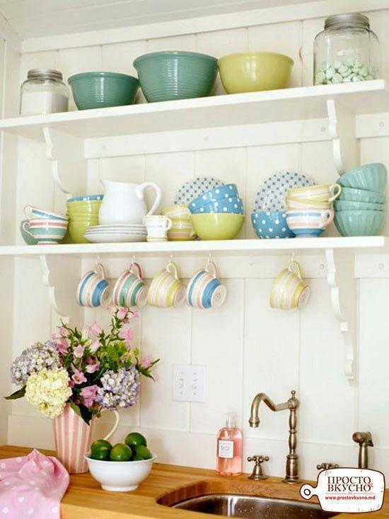 Просто&Вкусно - Идеи для интерьера - Открытые полки на вашей кухне