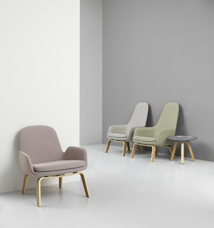 Era lounge chairs in dusted pale colors | Normann Copenhagen