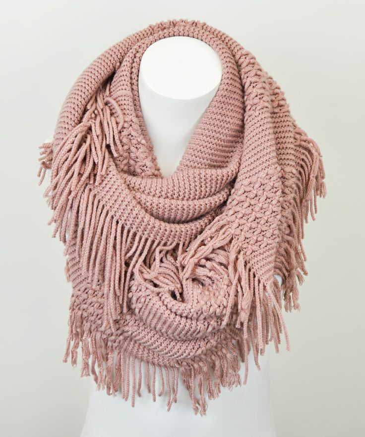 Rose Fringe Infinity Scarf | Daily deals for moms, babies and kids