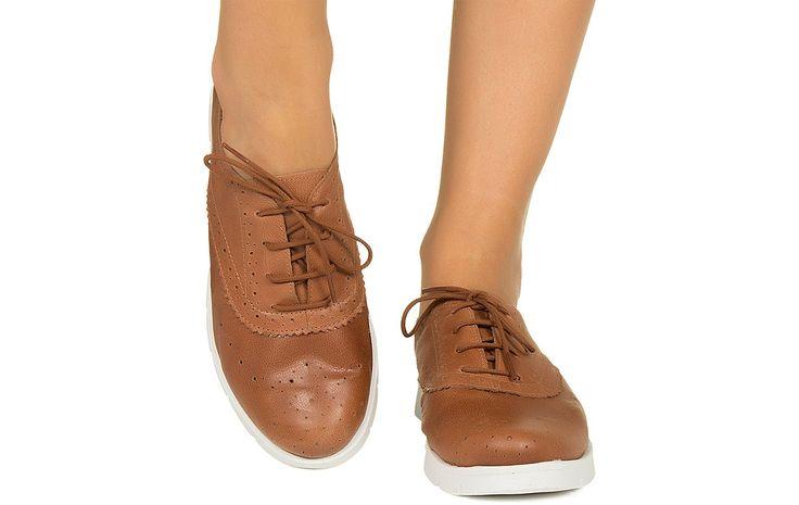 Tenis caramelo com solado branco Taquilla - Taquilla - Loja online de sapatos femininos