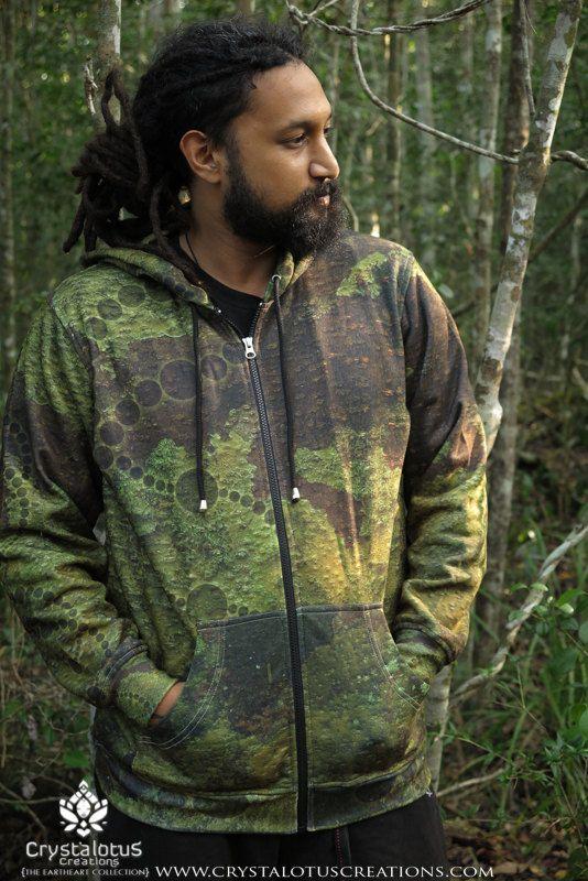 BARK DREAMS  Men's Hoodie / Camo Hoodie, Crop circle, Camo Sweatshirt, Sacred Geometry Hoodie,  Mens tribal hoodie by CrystalotusCreations on Etsy