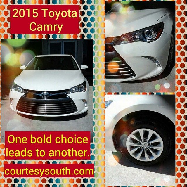 Sold!  2015 Toyota Camry Congrats on your new ride!  Come on by and see us for more great deals!  Check us out on the web at www.courtesysouth.com #toyotausa #toyotacorolla #oneboldchoice