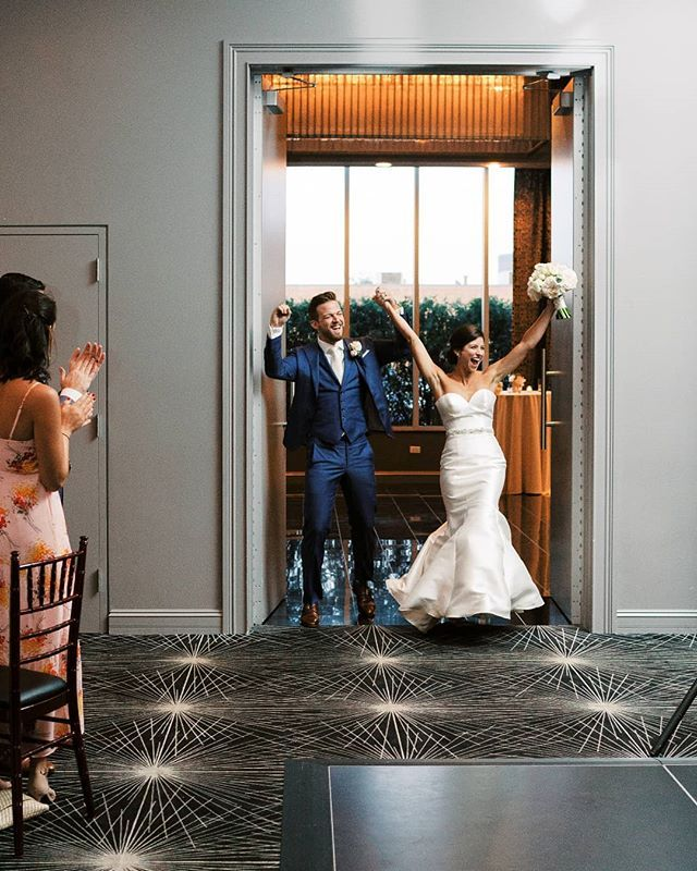 The Energy Of This Grand Entrance Is Palpable We Love This Moment Where Our Couple Enters The Room As Newlyweds A Chicago Photography Grand Entrance Newlyweds