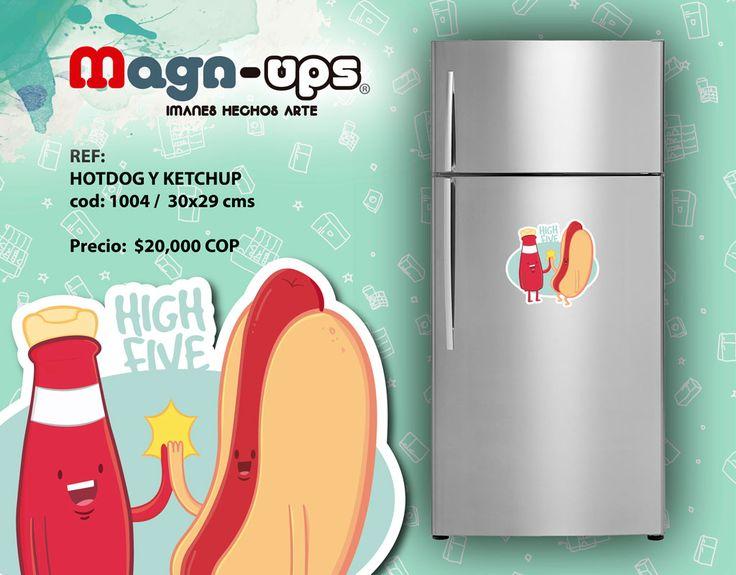 Contáctanos al correo magnups@gmail.com Whatsapp : 57 300 676 91 49. Realizamos envíos a todo Colombia. #imanes #decoración #hogar #food #nevera #original #Colombia #cocina #highfive #comida #hotdog #ketchup