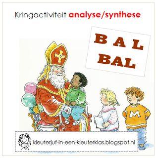Kleuterklas: Kringactiviteit hakken/plakken thema Sinterklaas