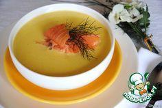 Бархатный крем-суп с лососем - кулинарный рецепт