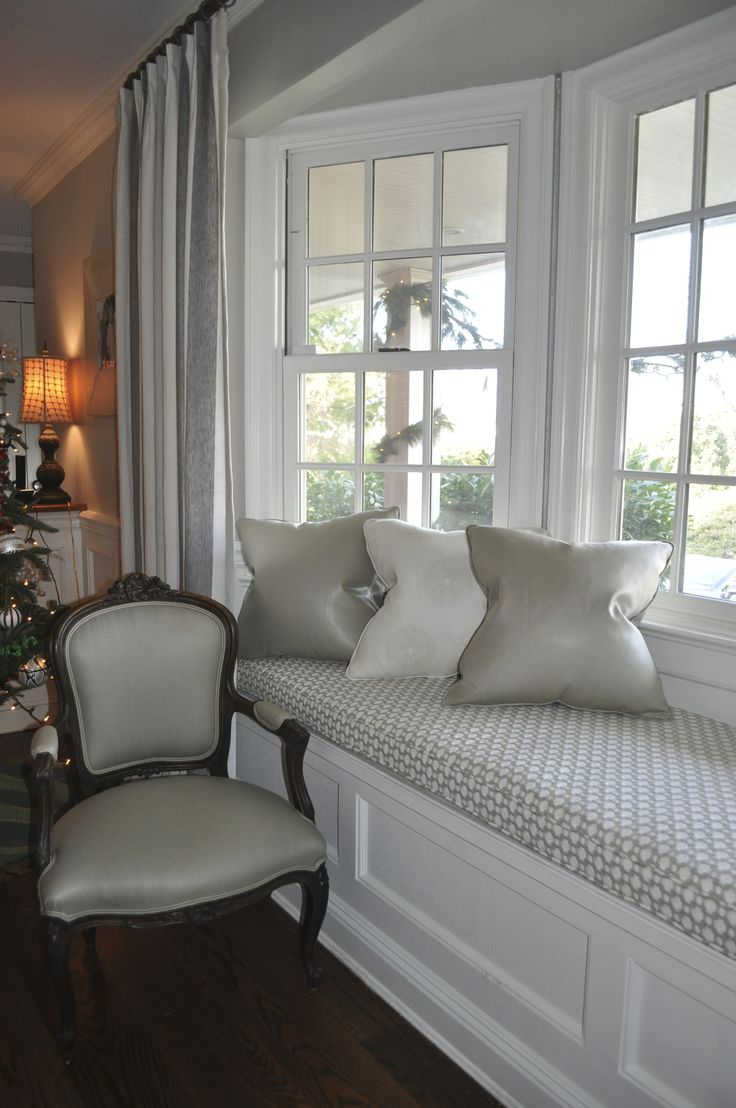 best 25 bay window cushions ideas on pinterest bay window seats love the white bay window trim on the grey