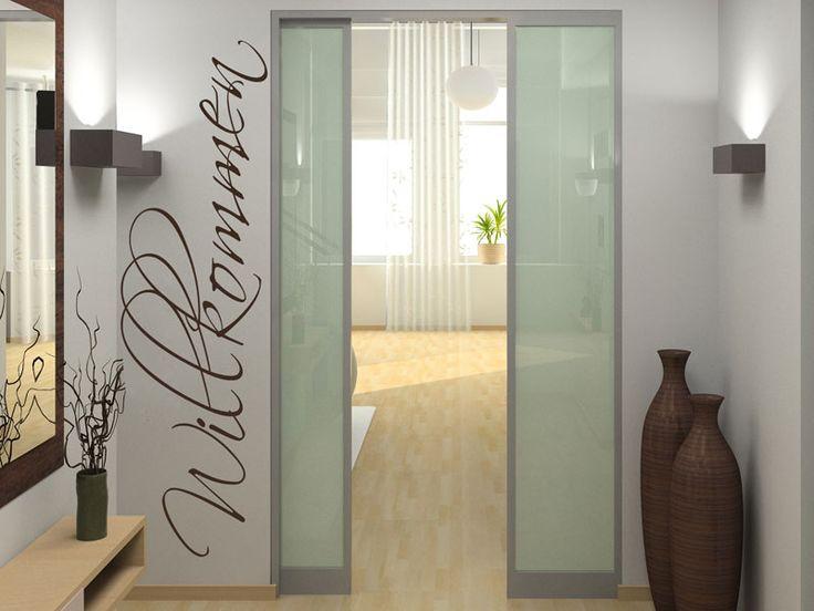 Mit dem Wandtattoo Willkommen kannst Du Deine Wand kreativ gestalten.