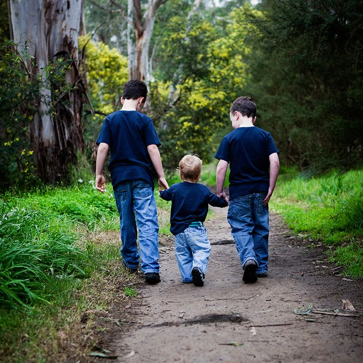 Children & Family photography. Boys off for a walk.