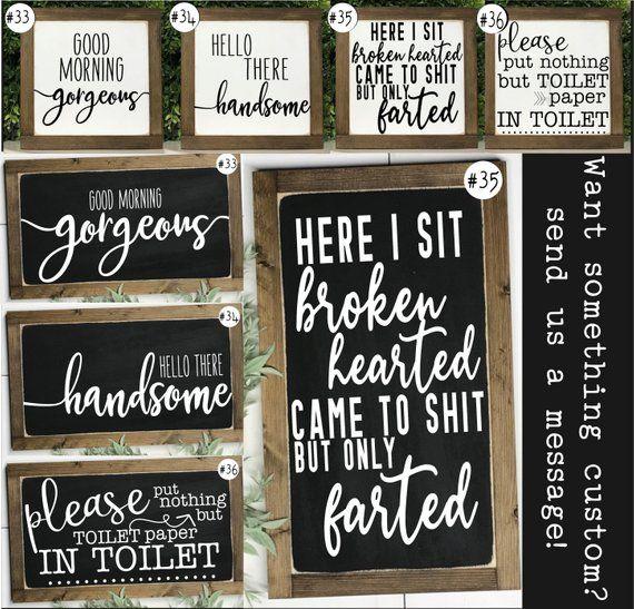 Funny Bathroom Signs Bathroom Wall Decor Kids Bathroom Etsy Bathroom Signs Funny Bathroom Signs Bathroom Wall Decor Diy