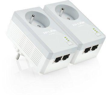 TP-LINK TL-PA4025PKIT 500 Mbps Pack de 2 Adaptateurs CPL (2 Ports Ethernet, Prise Intégrée)