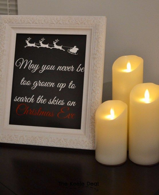 May you never be too grown up to search the skies on Christmas Eve  #Freeprintable #christmasdecor #cheapholidaydecor #diyholidaydecor #diychristmasdecorations #christmas