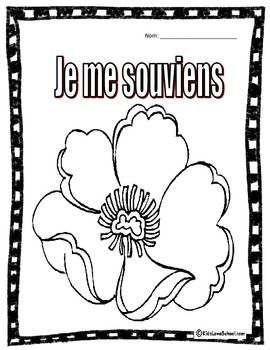 This is a simple and FUN activity for Kids to colour for Remembrance Day/Memorial Day! Great for kids in Core French and Immersion grades 1-2.